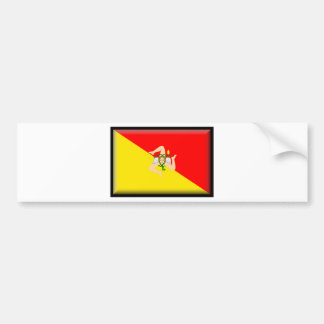 Bandera de Sicilia (Italia) Pegatina Para Coche