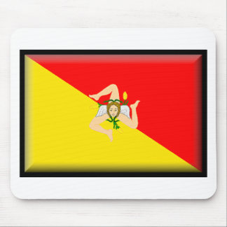 Bandera de Sicilia (Italia) Mouse Pads