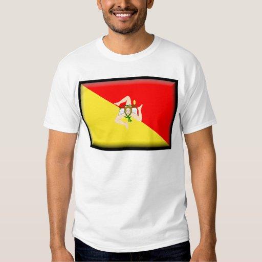 Bandera de Sicilia (Italia) Remeras