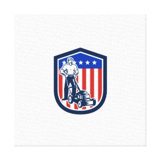 Bandera de siega del cortacésped del jardinero ret impresión en lona