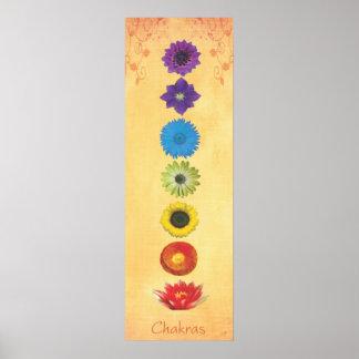 Bandera de siete Chakras Poster
