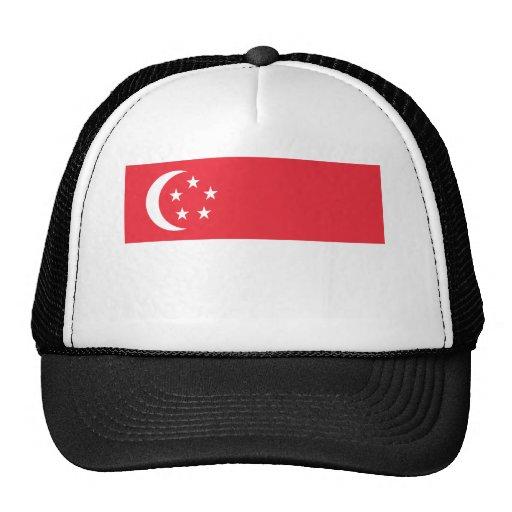 Bandera de Singapur Gorras De Camionero
