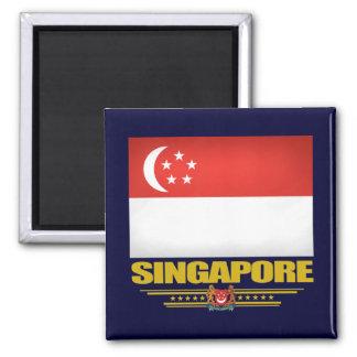 Bandera de Singapur Imán Cuadrado
