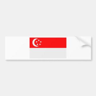 Bandera de Singapur Pegatina Para Auto
