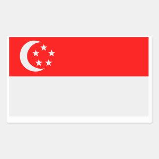 Bandera de Singapur Pegatina Rectangular