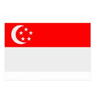 Bandera de Singapur Postales