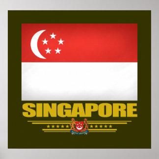 Bandera de Singapur Póster