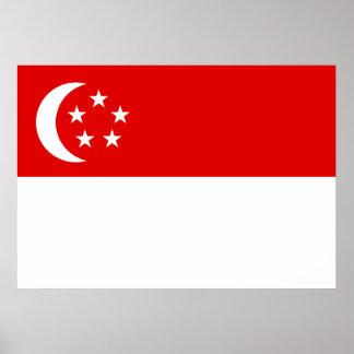 Bandera de Singapur Posters