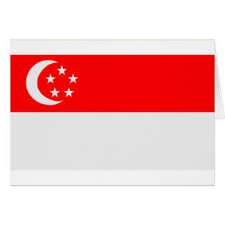 Bandera de Singapur Tarjeta De Felicitación