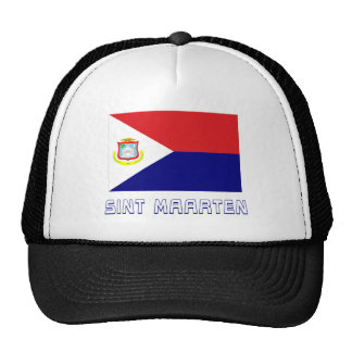 Bandera de Sint Maarten con nombre Gorras