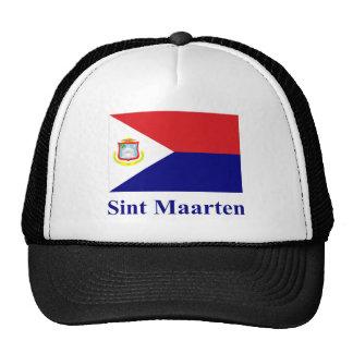 Bandera de Sint Maarten con nombre Gorras De Camionero