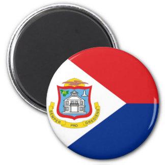 Bandera de Sint Maarten Imán Redondo 5 Cm