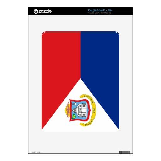 Bandera de Sint Maarten iPad Calcomanías