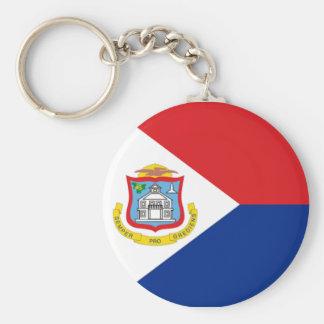 Bandera de Sint Maarten Llavero Redondo Tipo Pin
