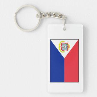 Bandera de Sint Maarten Llavero Rectangular Acrílico A Doble Cara