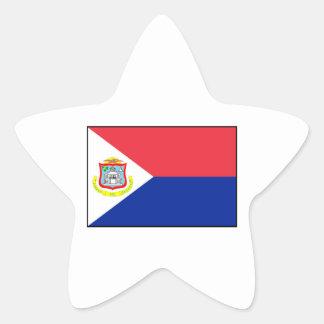 Bandera de Sint Maarten Pegatina En Forma De Estrella