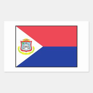Bandera de Sint Maarten Pegatina Rectangular