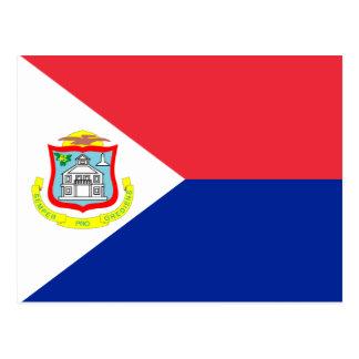 Bandera de Sint Maarten Tarjeta Postal