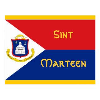 Bandera de Sint Marteen San Martín Postal