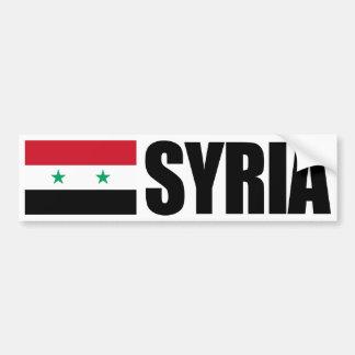 Bandera de Siria Pegatina De Parachoque