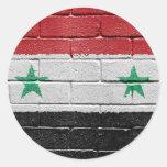 Bandera de Siria Etiquetas Redondas