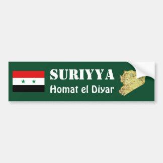Bandera de Siria + Pegatina para el parachoques de Etiqueta De Parachoque