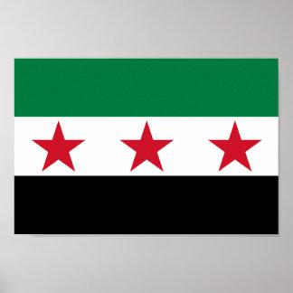 Bandera de Siria Póster