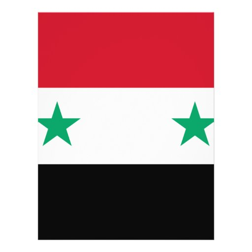 Bandera de Siria Tarjetas Publicitarias