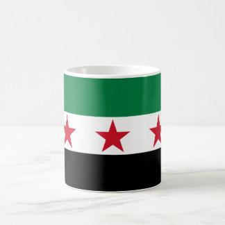 Bandera de Siria Taza Básica Blanca