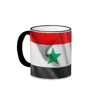 Bandera de Siria taza del campanero de 11 onzas