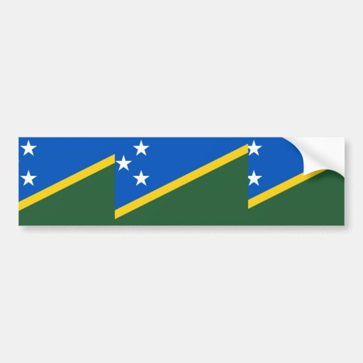 Bandera de Solomon Island, Eslovenia Etiqueta De Parachoque