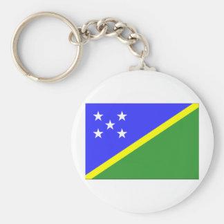 Bandera de Solomon Island Llavero Redondo Tipo Pin