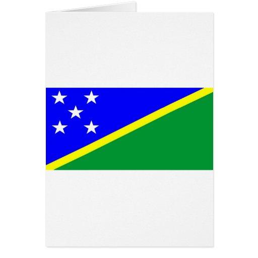Bandera de Solomon Island Tarjeta De Felicitación