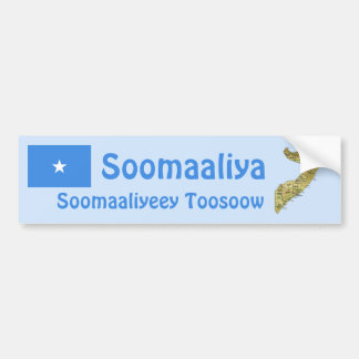 Bandera de Somalia + Pegatina para el parachoques Etiqueta De Parachoque