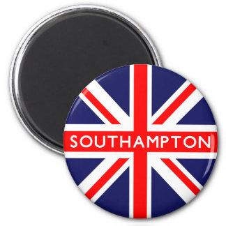Bandera de Southampton Reino Unido Imán Redondo 5 Cm