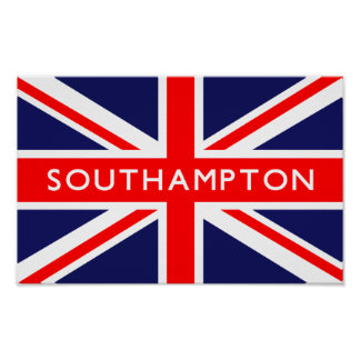 Bandera de Southampton Reino Unido Póster