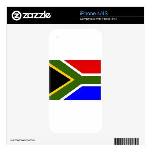 Bandera de Soutn África Calcomanías Para iPhone 4