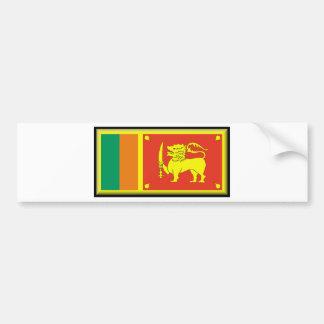 Bandera de Sri Lanka Pegatina Para Auto