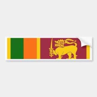 Bandera de Sri Lanka Etiqueta De Parachoque