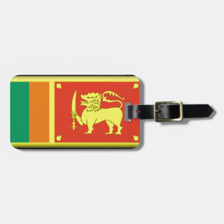 Bandera de Sri Lanka Etiquetas De Equipaje