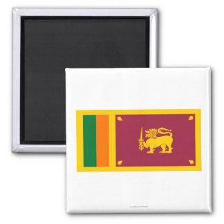 Bandera de Sri Lanka Imán Cuadrado