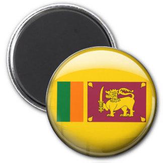 Bandera de Sri Lanka Imán Redondo 5 Cm