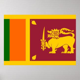 Bandera de Sri Lanka Poster