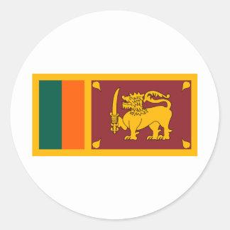 Bandera de Sri Lanka Pegatinas Redondas