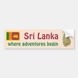 Bandera de Sri Lanka + Pegatina para el parachoque Pegatina Para Auto