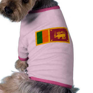 Bandera de Sri Lanka Camisetas De Mascota