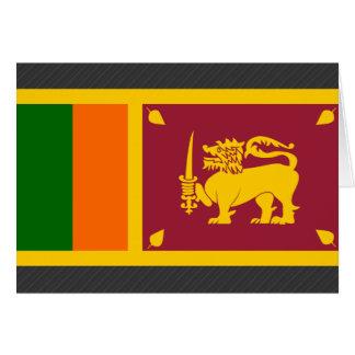 Bandera de Sri Lanka Tarjetón