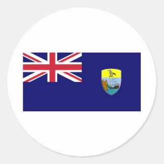 Bandera de St. Helena Pegatinas Redondas