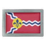 Bandera de St. Louis Hebillas De Cinturón Rectangulares