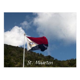 Bandera de St. Maarten Tarjetas Postales